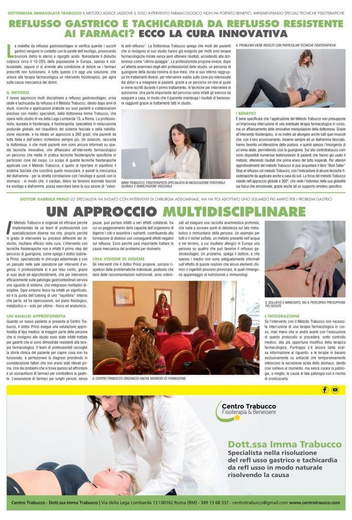 Articolo Metodo Trabucco Il Tempo edizione Centro Italia